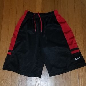 Nike athletic shorts. Black and and red.